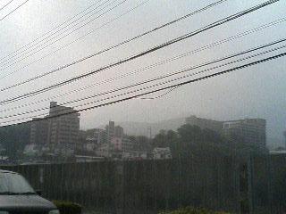 北九州市内の空は真っ白