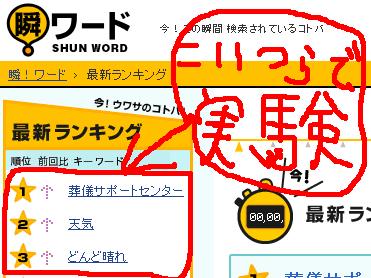 2007年7月14日 10:00~2007年7月14日 11:00 の 瞬!ワード
