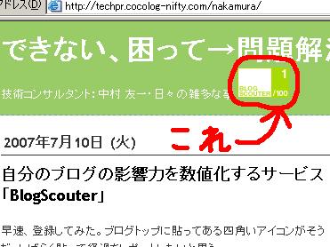 自分のブログの影響力を数値化するサービス「BlogScouter」