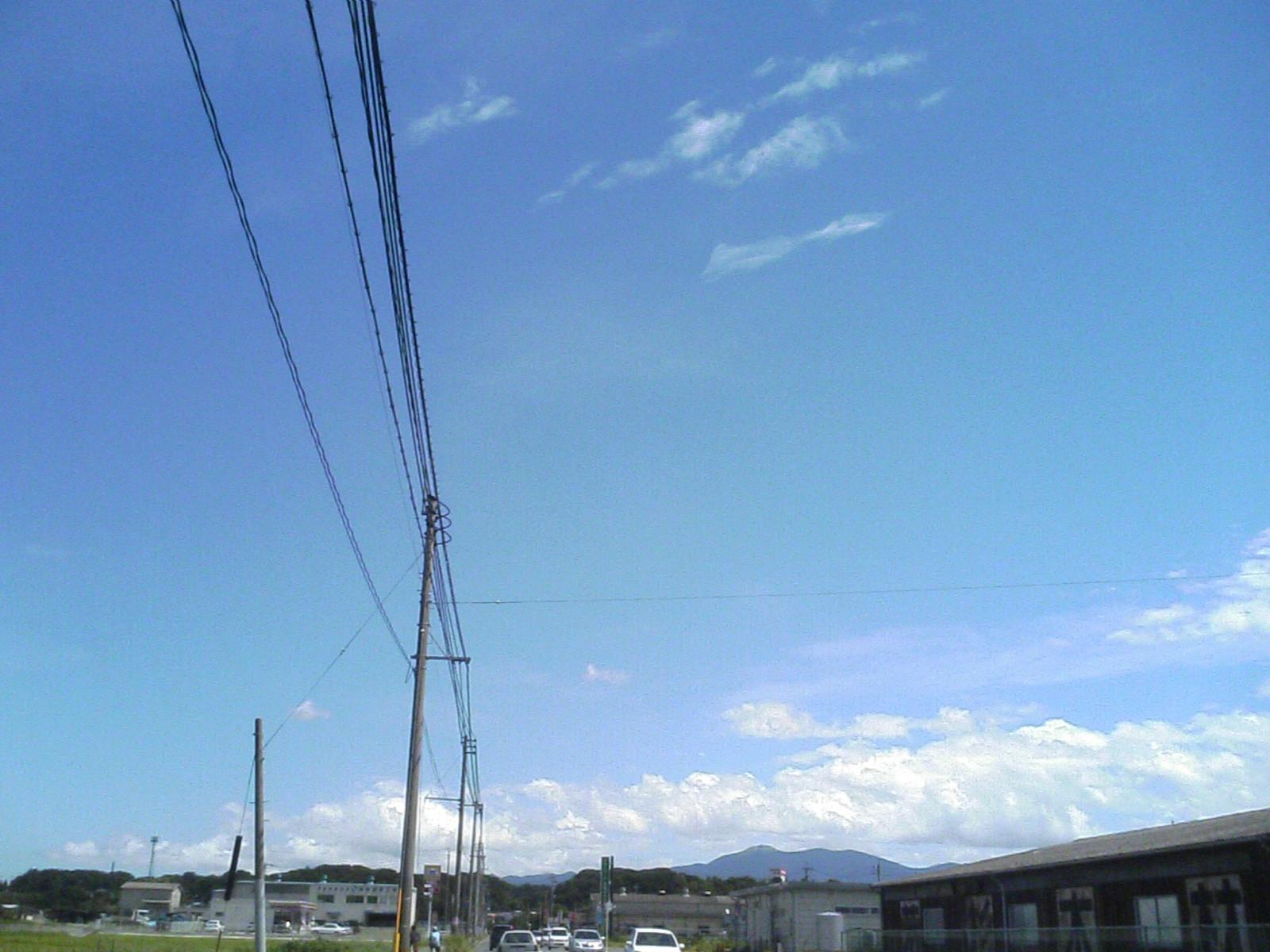 飯塚市内より福智山方面を臨む(11:18撮影)
